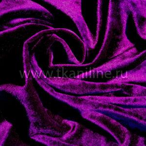 Бархат-стрейч-фиолетовый