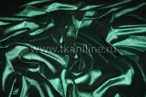 Бархат-стрейч-темно-зеленый
