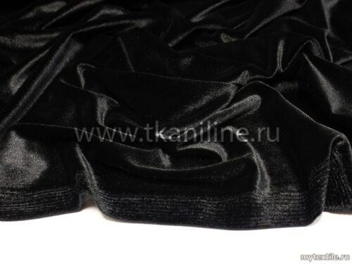Бархат-стрейч-черный