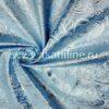 Парча-жаккард-голубой-с-серебром
