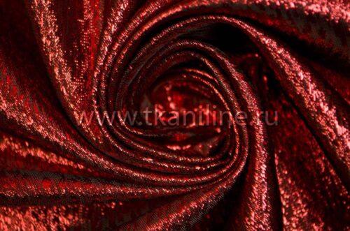 Парча топаз красная