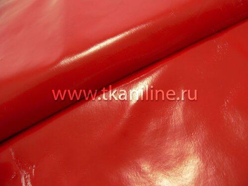 Ткань-Лакэ-красная