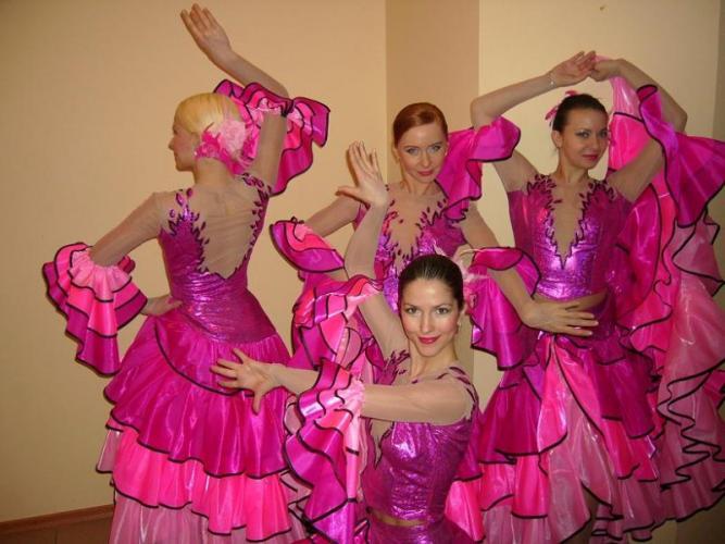 ткани для розовых танцевальных костюмов