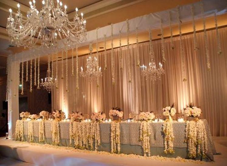 Стили украшения свадебного зала