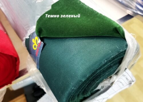 бархат сувенирный темно зеленый