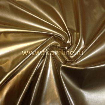 ткань лаке (кожа лаке) золотая
