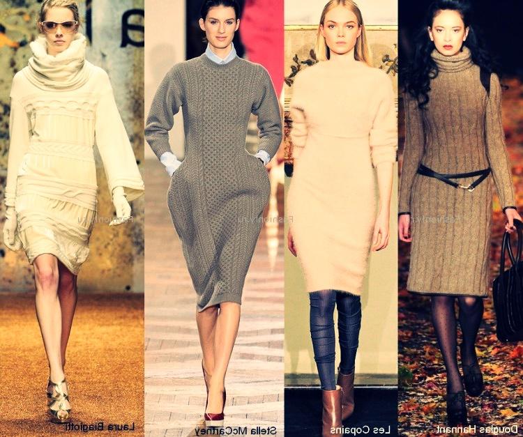 зимняя трикотажная мода