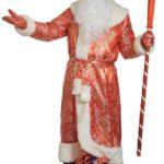 костюм деда мороза из парчи