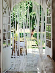 шторы из лент ткани