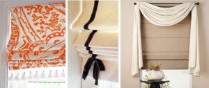 оригинальные римские шторы из ткани