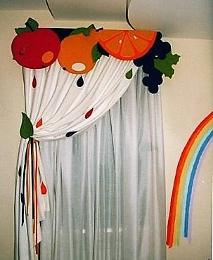 оригинальные шторы из ткани