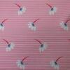 2967 розовая полоска цветочки