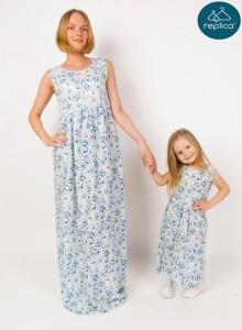 Летние платья для мамы и дочки