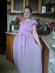 Нарядное платье для девочки своими руками