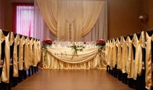Золотой креп сатин для украшения свадебного зала