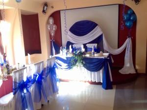 Свадьба в синих и белых цветах