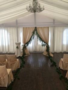 Украшение свадебного шатра