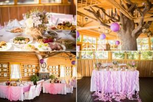 Шифон для украшения свадебного зала банты и ленточки