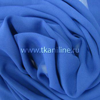 Шифон-синий-василек