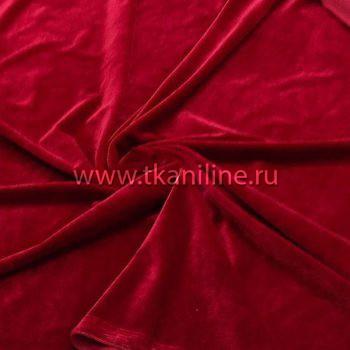Бархат стрейч красный