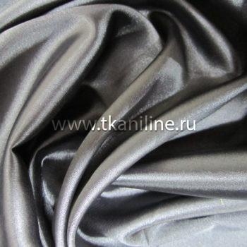 Атлас стрейч темно-серый