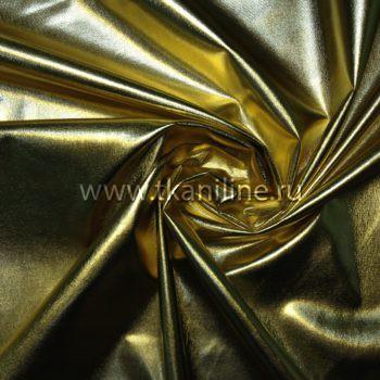 Ткань парча стрейч золотая