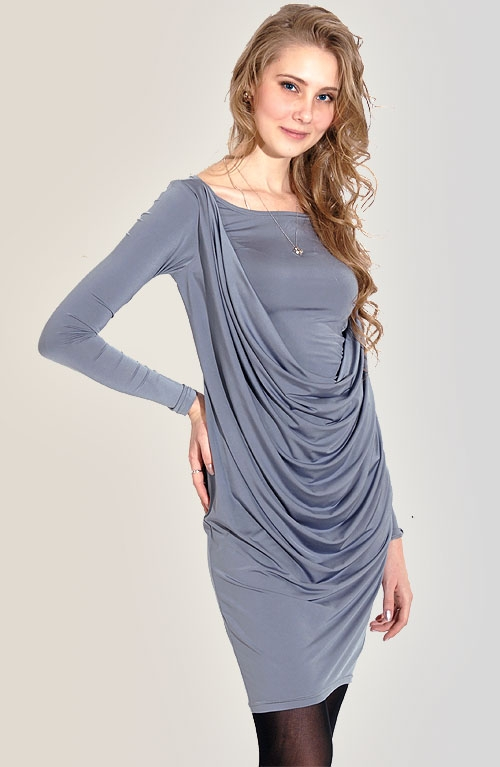 трикотаж масло платье