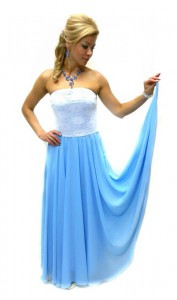 Нарядное платье из шифона