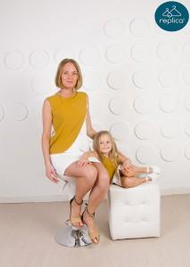 Платье футляр для мамы и дочки