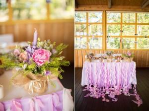Ленточки из шифона для украшения свадебного зала