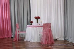 Оригинальные розовые чехлы на стулья