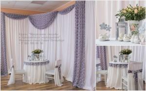 Оформление свадьбы тканями своими руками