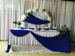 Синий и белый цвет на свадьбе