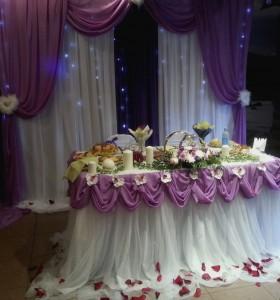 Ткани для оформления свадебного зала